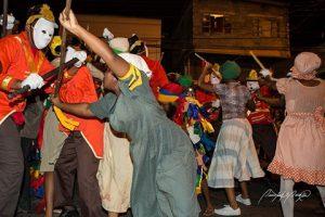 Protesters in Kambule play, Carnival, Trinidad