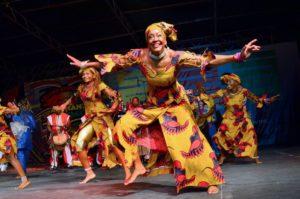Dancers of Wasafoli dance and drum company