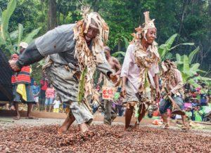 Dancing the cocoa, Festival, Tobago