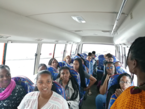Group in Maxi Taxi on City Tour, Melting Pot Travel, Trinidad
