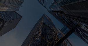 skyward view of skyscrapers