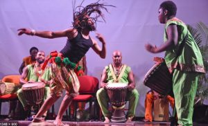 African dancing and drumming