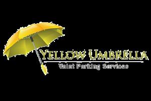 logo for yellow umbrella valet services