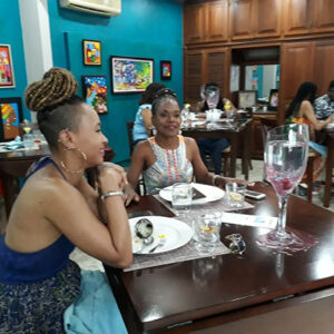 Lady diners, Aroma Culinary Studio, Trinidad