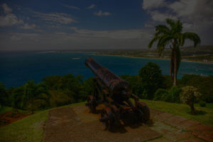 Cannon, Fort George, overlooking Scarborough, Tobago