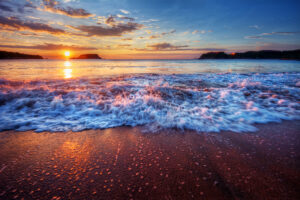 Beautiful beaches sunset