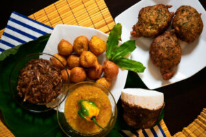 Traditional creole meal from Tobago