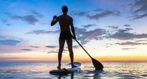 Paddle boating in Tobago