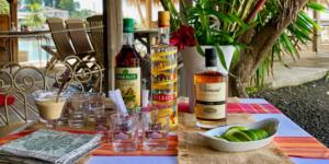 La Dunette restaurant, Sainte-Anne, Martinique, France/11.2018 A self-serve ti-punch bar.