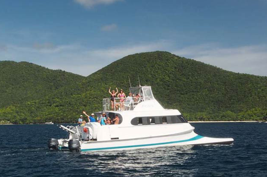 Bad Kitty a catamaran and party boat which operates out of St. John Caribbean