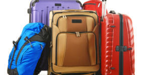 An assortment of suitcases